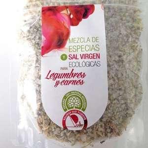 Mezcla de especias y sal virgen ecológica para carnes y legumbres - 250 g