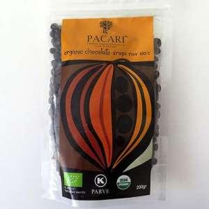 Cobertura/gotas de chocolate 100% ecológico - 200g