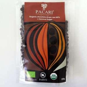 Cobertura/gotas de chocolate 60% ecológico con azúcar de coco - 200g