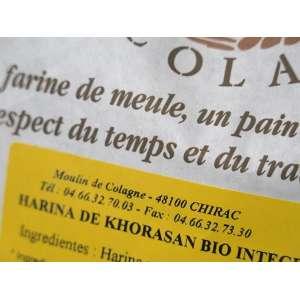 Harina BIO de trigo Khorasan ecológico con salvado - 5 kg