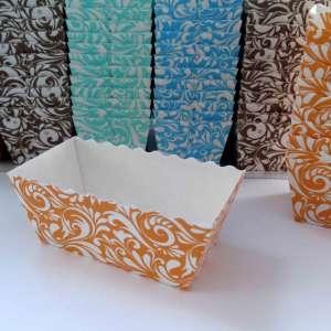 Cápsula rectangular para muffin, cupcake o magdalenas - 150 unidades