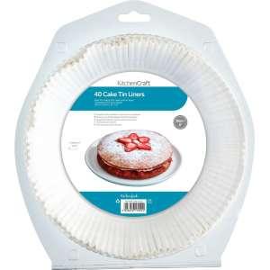 Paquete de 40 forros para moldes de bizcocho - 20 cm
