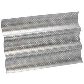 Bandeja 3 baguettes perforada y antiadherente - 38 x 24,5 cm