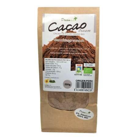 Cacao ecológico en polvo bajo en grasas - 250 g