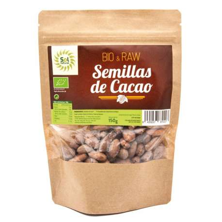Semillas crudas de cacao ecológico - 150 g