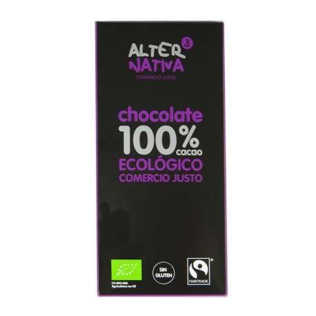 Chocolate ecológico ultra negro 100 % - 80 g