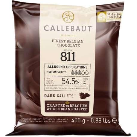Cobertura de chocolate negro Callebaut 54,5 % - 400 g