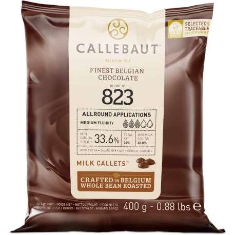 Cobertura de chocolate con leche Callebaut 33,6 % - 400 g