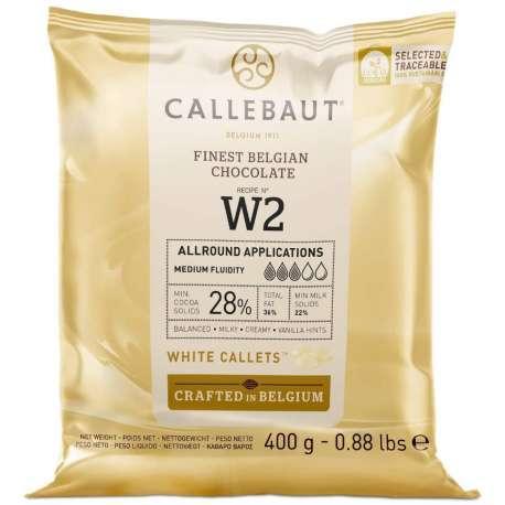Cobertura de chocolate blanco Callebaut 28 % - 400 g