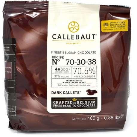 Cobertura de chocolate negro Callebaut 70,5 % - 400 g