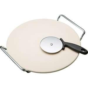 Piedra redonda (pan/pizzas) 33 cm. Incluye cortador.