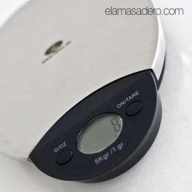 Báscula digital cocina, hasta 5 kg.
