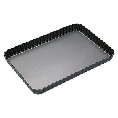 Molde rizado rectangular con base desmontable