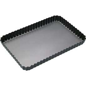 Molde rizado rectangular. Base desmontable