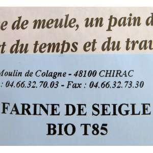Harina de centeno BIO T85 ecológica - 5 kg