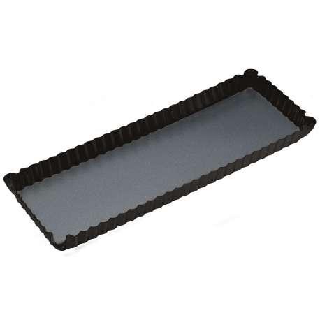 Molde rizado alargado con base extraíble - 36x13 cm