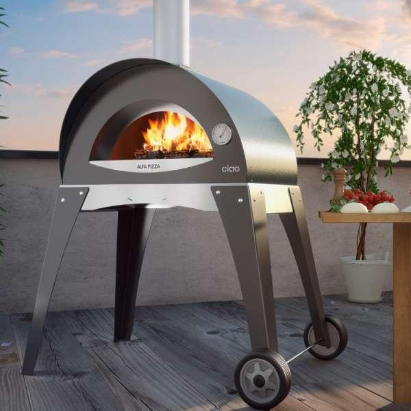 Horno para pizza alfa pizza de dise o italiano - Hornos a lena para pizza ...