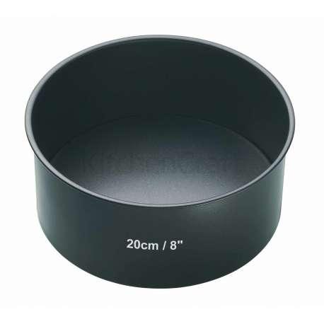 Molde redondo alto con base extraíble - 20 cm