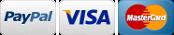 Paypal, Visa, Master Card